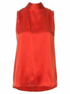 Nobody Denim Split sleeveless blouse - Red