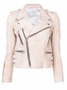 Faith Connexion zip-detail leather jacket - Pink