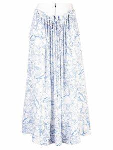 Tibi isa toile double waist skirt - White