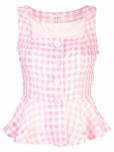 Isa Arfen sleeveless checked blouse - PINK