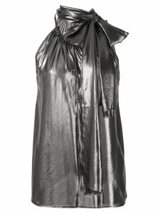 Alexa Chung tied neck vest top - Black