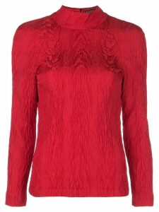 Alexa Chung open back blouse - Red