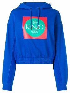 Kenzo logo hooded sweatshirt - Blue