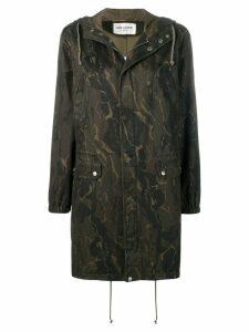 Saint Laurent camouflage parka - Green