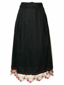 Simone Rocha lace hem skirt - Black