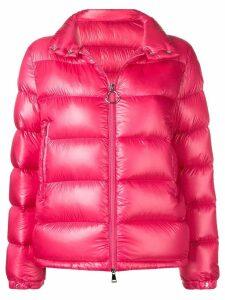 Moncler logo puffer jacket - PINK