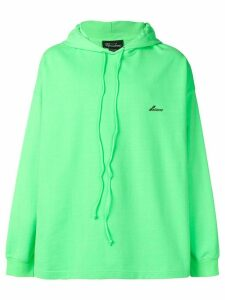We11done logo oversized hoodie - Green