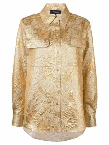 Rochas brocade shirt - GOLD