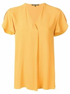 Luisa Cerano shortsleeved V-neck blouse - Yellow