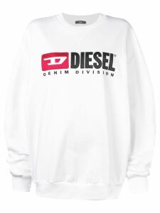 Diesel logo embroidered sweatshirt - White