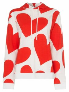 House of Holland x THE WOOLMARK COMPANY heart print hooded merino wool