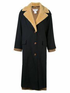 We11done layered single-breasted coat - Black