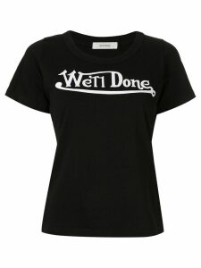 We11done logo print T-shirt - Black