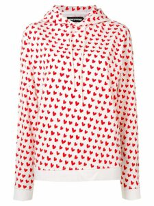 House of Holland X THE WOOLMARK COMPANY heart print hoodie - Red
