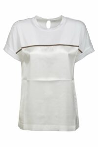 Brunello Cucinelli Back Keyhole Contrast Detail T-shirt