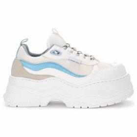 Chiara Ferragni  Chiara Ferragni white leather and fabric sneaker  women's Shoes (Trainers) in White