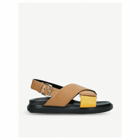 Fussbett cross strap leather sandals
