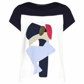 Mado Et Les Autres  Graphic T-shirt  women's Blouse in White