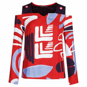 Mado Et Les Autres  Arty printed blouse  women's Blouse in Red