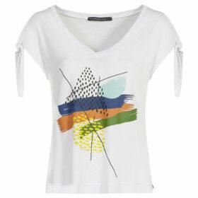 Mado Et Les Autres  V neck T-shirt  women's Blouse in White