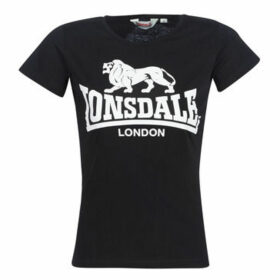 Lonsdale  HEATHER  women's T shirt in Black