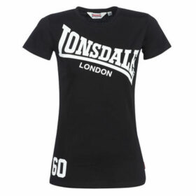 Lonsdale  FAUNCE  women's T shirt in Black