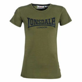 Lonsdale  MARYLEE  women's T shirt in Kaki