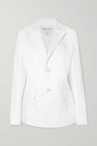 Helmut Lang - Silk-trimmed Satin Maxi Dress - Lilac