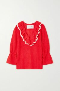 Balenciaga - Convertible Stretch-velvet Turtleneck Top - Black