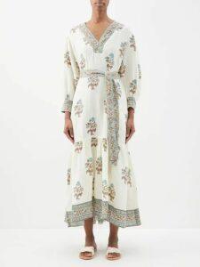 Wales Bonner - Crystal-embellished Blouson Denim Jacket - Womens - Indigo