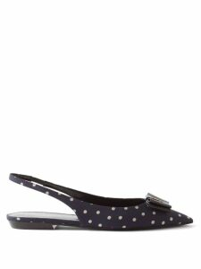 Wales Bonner - Striped Cotton And Silk-blend Shirt - Womens - Blue White