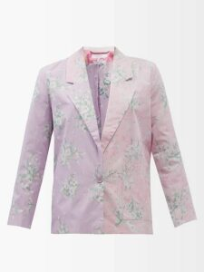 Roland Mouret - Pilar Neck-tie Hammered-satin Blouse - Womens - Burgundy
