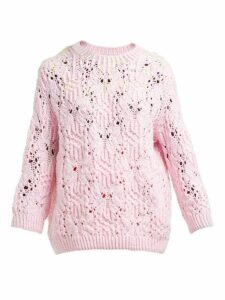 Vika Gazinskaya - Neon-thread Sweater - Womens - Pink