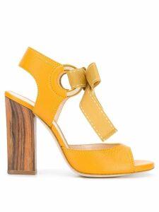 Lanvin bow tie sandals - Yellow