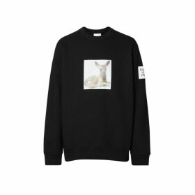 Burberry Deer Print Cotton Sweatshirt