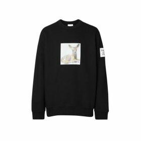 Burberry Deer Print Cotton Sweatshirt