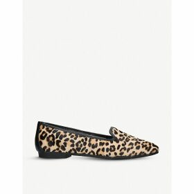Mercy leopard-print pony loafers