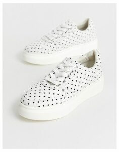 Blink lace up trainers-White