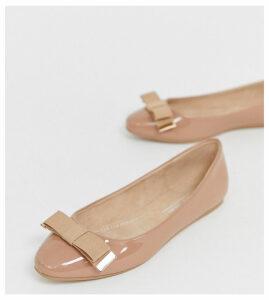 ASOS DESIGN Lexy bow ballet flats in beige