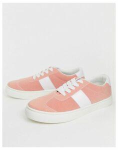 Park Lane side stripe trainer-Pink