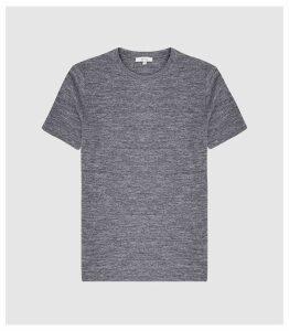 Reiss Prince - Melange Crew Neck T-shirt in Grey, Mens, Size XXL