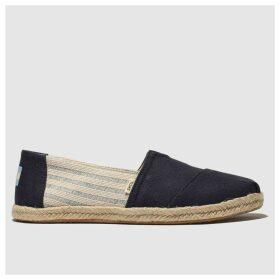 Toms Navy Alpargata Flat Shoes