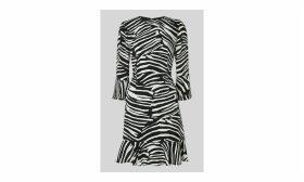 Zebra Print Flippy Dress