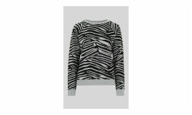 Zebra Flocked Sweat
