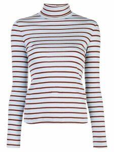 Rosetta Getty striped turtleneck sweatshirt - Blue