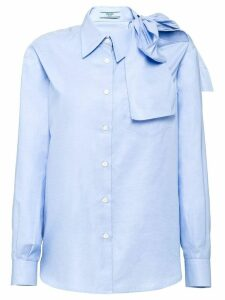 Prada poplin blouse with bow - Blue