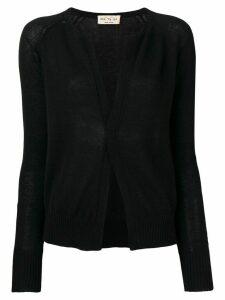 Ma'ry'ya long-sleeve fitted cardigan - Black
