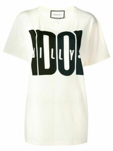 Gucci Billy Idol print T-shirt - White