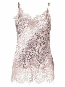 Gold Hawk python print camisole vest - Pink