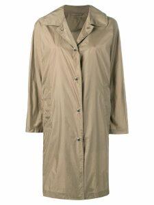 Mackintosh Beige Nylon Single Breasted Coat LM-079ST/P - Brown
